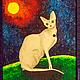 """Абстракция ручной работы. Ярмарка Мастеров - ручная работа. Купить Пиклид """"Сфинкс"""". Картина живущая в темноте. Handmade. Картина, Сфинкс"""