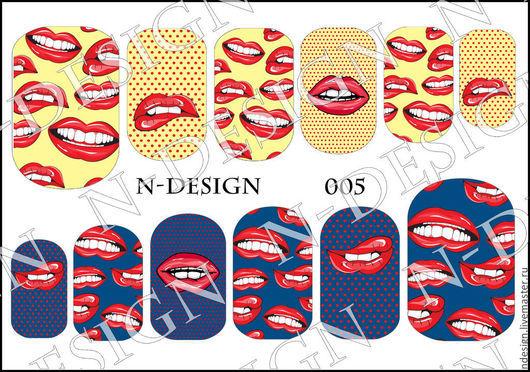 Декоративная косметика ручной работы. Ярмарка Мастеров - ручная работа. Купить Слайдер-дизайн для ногтей N-DESIGN. Handmade. Маникюр