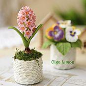 Цветы и флористика handmade. Livemaster - original item Mini flowers in pots (magnets)!. Handmade.