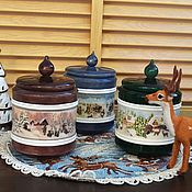 Jars handmade. Livemaster - original item Set boxes, jars for storing bulk products, spices Christmas. Handmade.