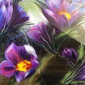 """Картины и панно ручной работы. Ярмарка Мастеров - ручная работа картина из шерсти """"сон трава"""". Handmade."""