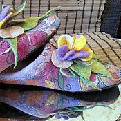 """Обувь ручной работы. Ярмарка Мастеров - ручная работа Тапочки """"Домашние"""". Handmade."""