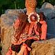 Коллекционные куклы ручной работы. Заказать Лягушка , радующая глаз:). Маша Квакина. Ярмарка Мастеров. Бисер, коралловый, ароматизированная игрушка