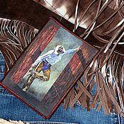 """Канцелярские товары ручной работы. Ярмарка Мастеров - ручная работа Обложка для паспорта """"Wild, Wild West"""". Handmade."""