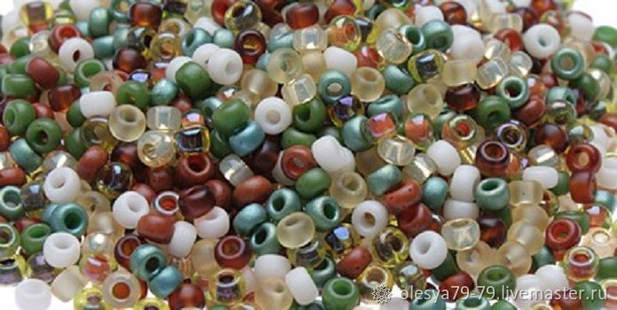 10g Miyuki 11/0 mix 07 round natural colors of Japanese seed beads, Beads, Chelyabinsk,  Фото №1
