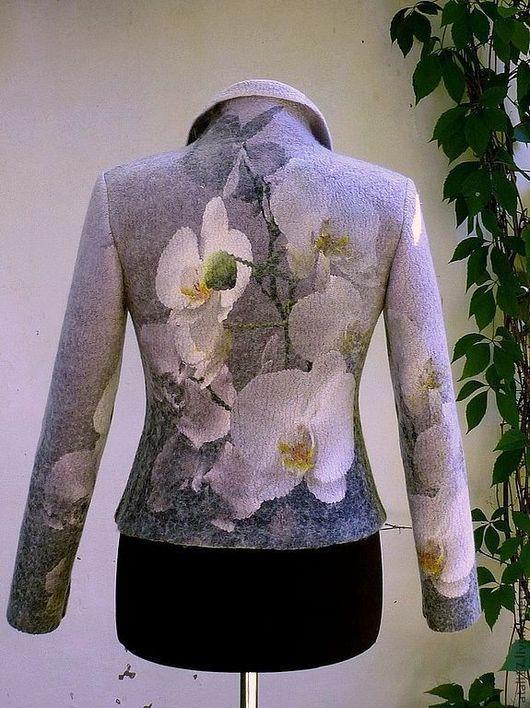 """Пиджаки, жакеты ручной работы. Ярмарка Мастеров - ручная работа. Купить Жакет """"Орхидея""""-войлок. Handmade. Орхидея, нарядный жакет"""