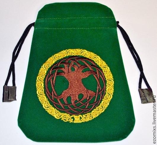 Гадания ручной работы. Ярмарка Мастеров - ручная работа. Купить Магический мешок Кельтское древо. Handmade. Таро, зеленый цвет