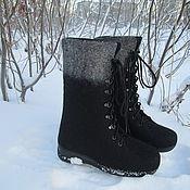 """Обувь ручной работы. Ярмарка Мастеров - ручная работа Валяные ботинки """"Морозно"""". Handmade."""