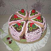 Кукольная еда ручной работы. Ярмарка Мастеров - ручная работа ягодный торт. Handmade.