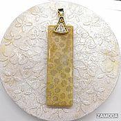 Украшения handmade. Livemaster - original item Pendant - Pendant in fossilised coral. Handmade.