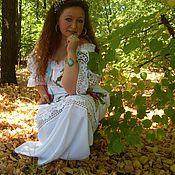 """Одежда ручной работы. Ярмарка Мастеров - ручная работа летнее вышитое платье""""НЕЖНОСТЬ МАКОВ""""ручная вышивка. Handmade."""