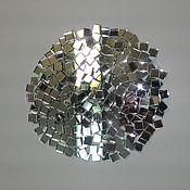 Мозаика ручной работы. Ярмарка Мастеров - ручная работа Мозаика зеркальная, серебряная. Handmade.