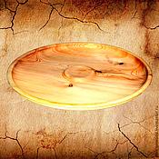 Тарелки ручной работы. Ярмарка Мастеров - ручная работа Кедровая посуда 41см, БЛЮДО из сибирского кедра деревянная тарелка #T5. Handmade.