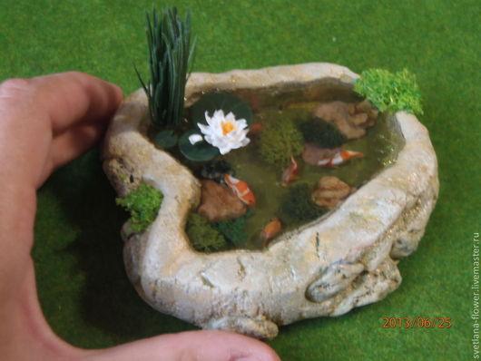 Кукольный дом ручной работы. Ярмарка Мастеров - ручная работа. Купить Водоём  миниатюра 1:12 минипрудик. Handmade. Кукольный дом