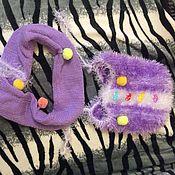 Работы для детей, ручной работы. Ярмарка Мастеров - ручная работа Детский комплект шапочка и шарфик. Handmade.
