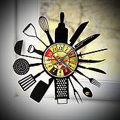 "Для дома и интерьера handmade. Livemaster - original item Wall clock ""Kitchen"". Handmade."