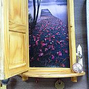 """Для дома и интерьера ручной работы. Ярмарка Мастеров - ручная работа """"Дверь к счастью! Иллюзия.""""  -  ключница панно. Handmade."""