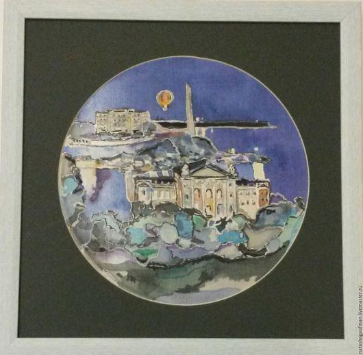 """Пейзаж ручной работы. Ярмарка Мастеров - ручная работа. Купить Картина на ткани """"Севастополь"""". Handmade. Разноцветный, картины, картины на ткани"""