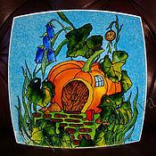 """Посуда ручной работы. Ярмарка Мастеров - ручная работа Декоративная тарелка""""Домик-тыква"""". Handmade."""
