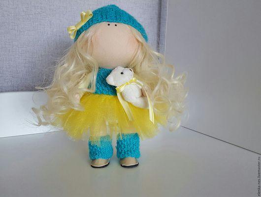 Куклы тыквоголовки ручной работы. Ярмарка Мастеров - ручная работа. Купить Кукла тыквоголовка. Handmade. Тёмно-бирюзовый, куколка
