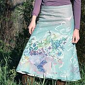 """Одежда ручной работы. Ярмарка Мастеров - ручная работа Валяная юбка """"Пахнут мятою травы"""". Handmade."""