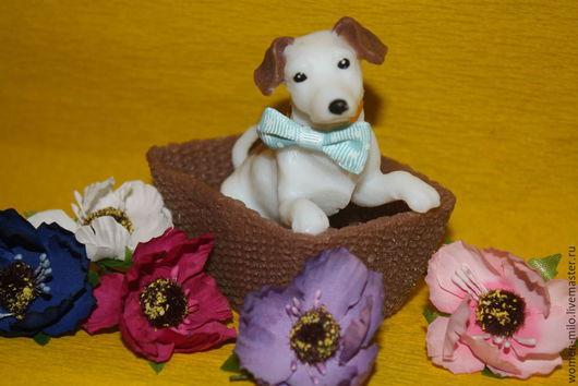 """Мыло ручной работы. Ярмарка Мастеров - ручная работа. Купить собаки из коллекции """"собачка в корзинке""""джек рассел. Handmade. Разноцветный"""