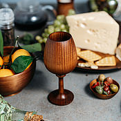 Посуда handmade. Livemaster - original item Wooden wine glass of wine from the Siberian Cedar #G8. Handmade.