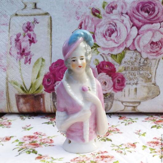 Винтажные куклы и игрушки. Ярмарка Мастеров - ручная работа. Купить Half doll, антикварная фарфоровая кукла - половинка, pin cushion doll. Handmade.