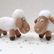 Подарки к праздникам ручной работы. Ярмарка Мастеров - ручная работа Овечка вязаная. Handmade.
