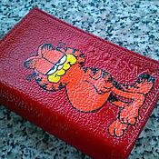 """Канцелярские товары ручной работы. Ярмарка Мастеров - ручная работа Обложка """"Гарфилд"""" (0420). Handmade."""
