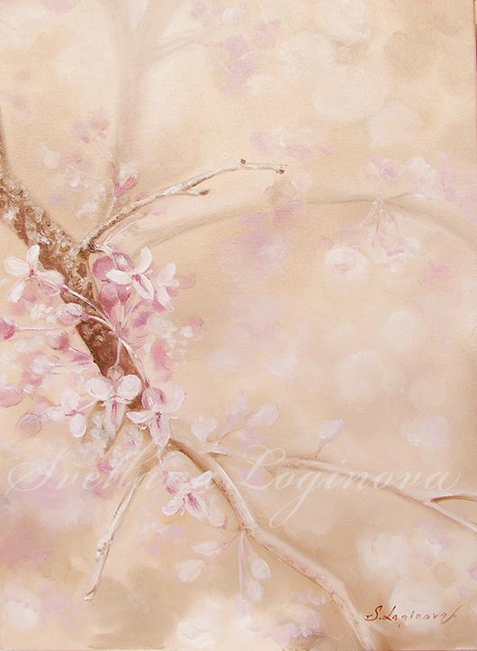 Картины цветов ручной работы. Ярмарка Мастеров - ручная работа. Купить Поэзия весны.... Handmade. Кремовый, пастельный, весна