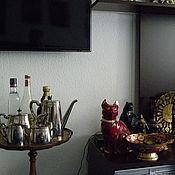 Сервизы винтажные ручной работы. Ярмарка Мастеров - ручная работа Чайный комплект от Ватсона Серебрение Логотипы Приличное состояние. Handmade.