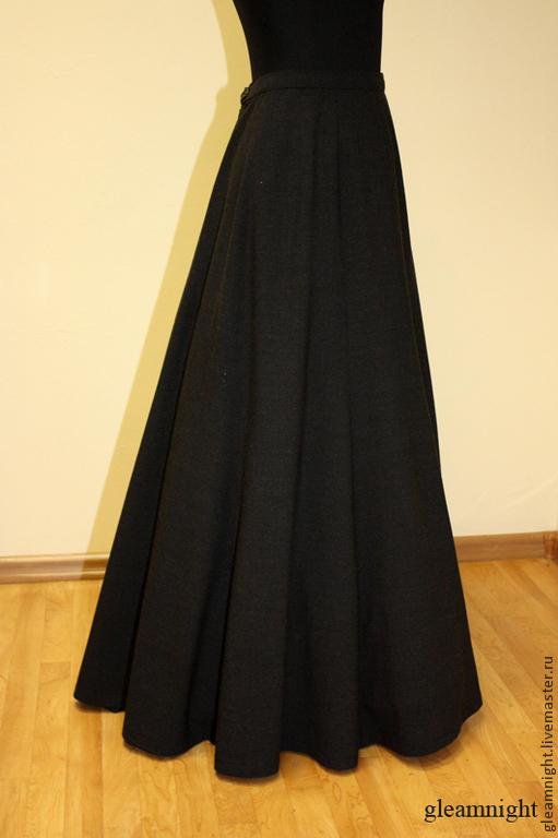 Шерстяная историческая юбка