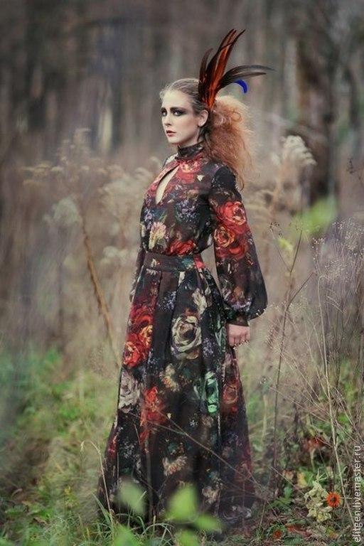 Платья ручной работы. Ярмарка Мастеров - ручная работа. Купить Платье в пол. Handmade. Цветочный, модное платье, платье на свадьбу