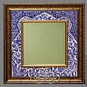 Для дома и интерьера handmade. Livemaster - original item Mirror of Oriental fairy-tale Painting pottery Painting ceramic tile. Handmade.