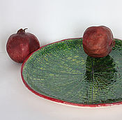 Посуда ручной работы. Ярмарка Мастеров - ручная работа Блюдо керамическое Victoria Regia. Handmade.