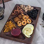 Посуда handmade. Livemaster - original item Large tray mananita oak. Handmade.