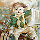 Город ручной работы. Ярмарка Мастеров - ручная работа. Купить Parisien- Парижанин. Handmade. Теплые картины, коты на картинах