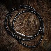 Necklace handmade. Livemaster - original item Leather cord for charms ( 3 mm ). Handmade.