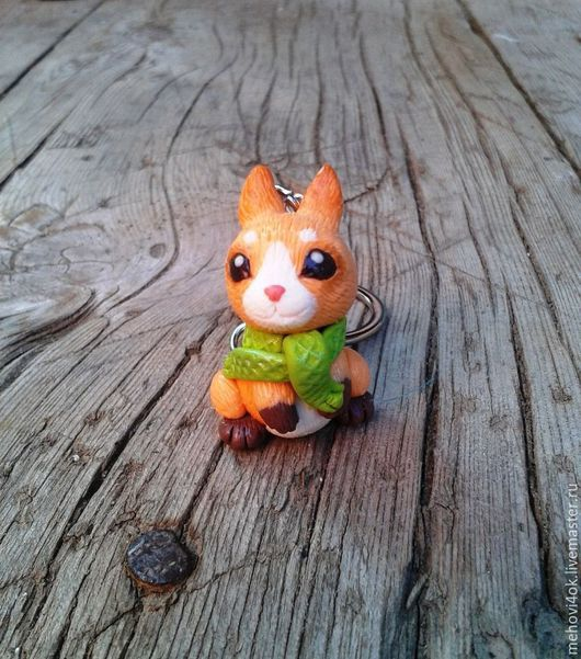 """Брелоки ручной работы. Ярмарка Мастеров - ручная работа. Купить Брелок из полимерной глины """"Зайчонок"""", зайчик, зайка, заяц, кролик. Handmade."""