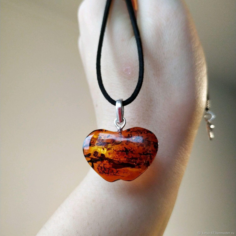 Amber Apple pendant, amber pendant, amber Apple, pendant, Pendant, Kaliningrad,  Фото №1