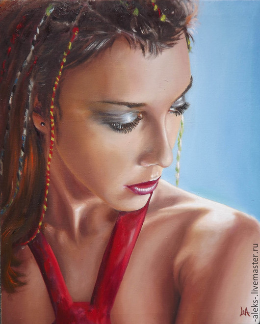 Люди, ручной работы. Ярмарка Мастеров - ручная работа. Купить Портрет. Handmade. Рыжий, портрет, девушка, прическа, макияж