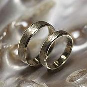 Свадебный салон ручной работы. Ярмарка Мастеров - ручная работа Обручальные кольца с матовой полосой. Handmade.