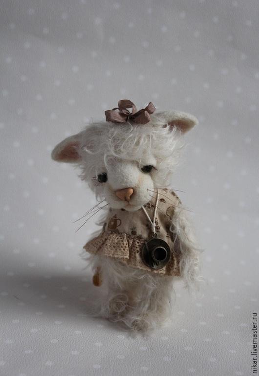 Мишки Тедди ручной работы. Ярмарка Мастеров - ручная работа. Купить Кошка Сластена тедди. Handmade. Белый, котики