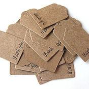 Материалы для творчества handmade. Livemaster - original item Labels: for product packaging. Handmade.