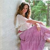 Одежда ручной работы. Ярмарка Мастеров - ручная работа Длинная юбка крючком Астра. Handmade.