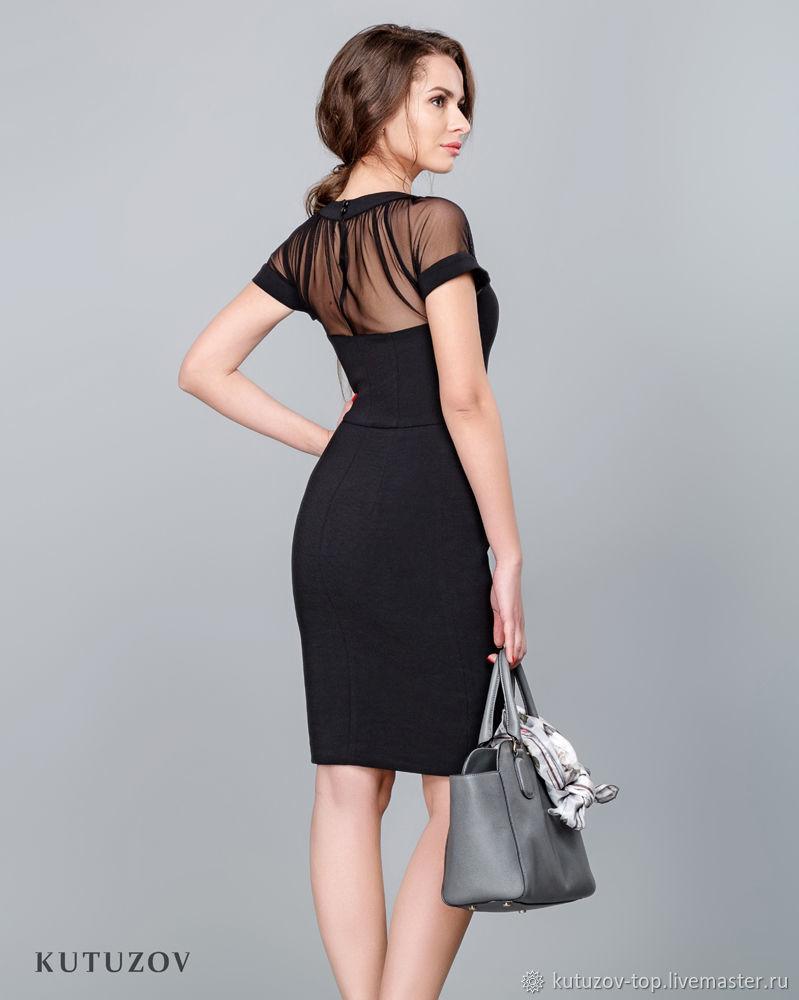 41d6f0bca0e Чёрное платье с сеткой №306 – купить в интернет-магазине на Ярмарке ...