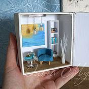 Подарки к праздникам ручной работы. Ярмарка Мастеров - ручная работа Современный интерьер в миниатюре. Handmade.