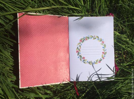 Блокноты ручной работы. Ярмарка Мастеров - ручная работа. Купить Блокнот для записей. Handmade. Розовый, ежедневник для девушки, блокнот для девушки