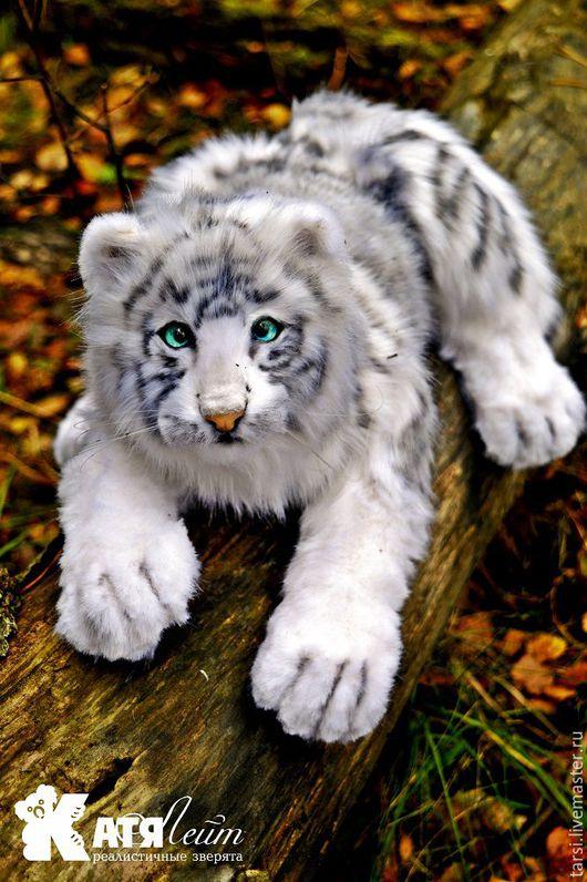 Мишки Тедди ручной работы. Ярмарка Мастеров - ручная работа. Купить Белый тигр Скаут. Handmade. Чёрно-белый